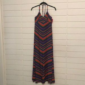 Xhilaration Maxi Halter Sundress NWT